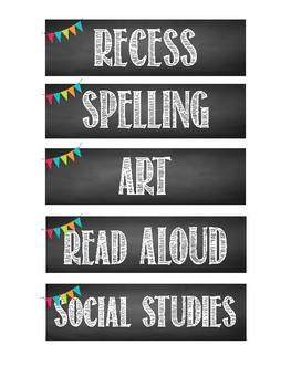 Chalkboard Brights Classroom Labels