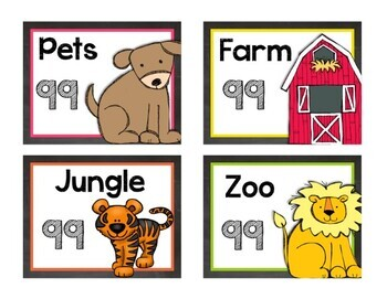 Chalkboard & Brights Classroom Library Label Pack {Less Ink - Primary Font}