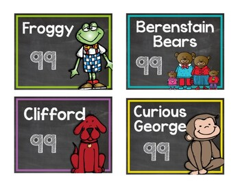 Chalkboard & Brights Classroom Library Label Pack {with Matching Book Stickers}