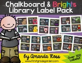 Chalkboard & Brights Classroom Library Label Pack {Lots of Ink - Primary Font}