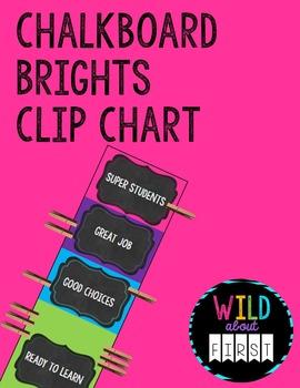 Chalkboard Brights Clip-Chart