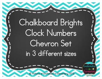 Chalkboard Brights Clock Numbers- Chevron Set