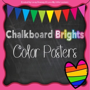 Chalkboard Brights Color Posters
