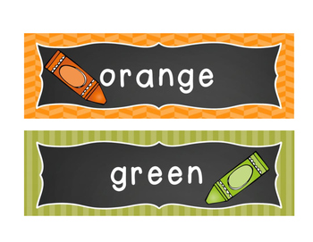 Chalkboard Brights Color Posters {Rainbow}