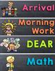 Chalkboard Brights Daily Schedule