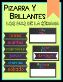 Chalkboard & Brights Days of the Week - SPANISH