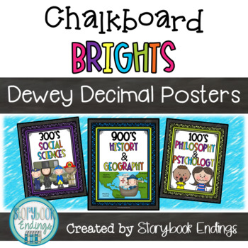 Chalkboard Brights: Dewey Decimal Posters