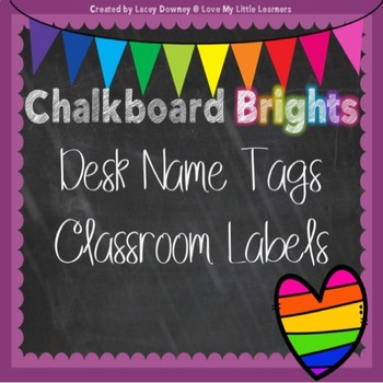 Chalkboard Brights Editable Name Tags/Labels