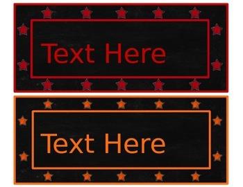 Chalkboard & Brights Editable Nameplates