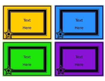 Chalkboard & Brights Editable Small Labels