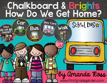 Chalkboard & Brights How Do We Get Home? {Transportation Clip Chart}