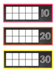 Chalkboard & Brights How Many Days of School? Ten Frames {Lots of Ink Version}