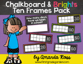 Chalkboard & Brights How Many Days of School? Ten Frames {
