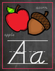 Chalkboard & Brights Just Alphabet Posters {Lots of Ink Ve