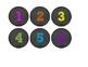 Chalkboard & Brights Library Bin Number Circles