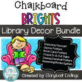 Chalkboard Brights Library Decor Bundle