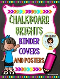 Chalkboard Brights Melonheadz Binder Covers and Posters (Editable)