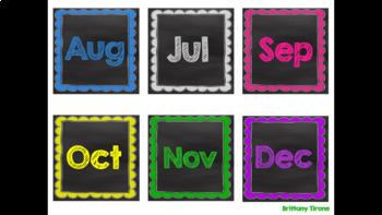 Chalkboard & Brights Months