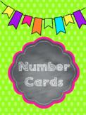 Chalkboard Brights Number Cards