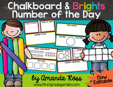 Chalkboard & Brights Number of the Day {Poster Set & Worksheets}