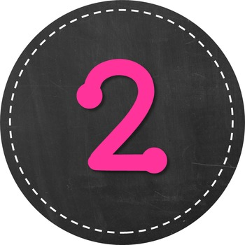 Chalkboard & Brights Numbers - Square & Circular