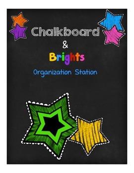 Chalkboard & Brights Organization Station