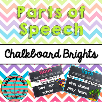 Chalkboard Brights Parts of Speech