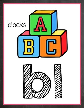 Chalkboard & Brights Phonics Posters {Less Ink Version}