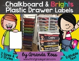Chalkboard & Brights Plastic Drawer Labels {Editable Text}