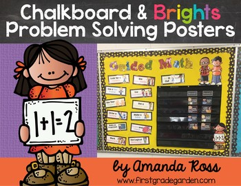 Chalkboard & Brights Problem Solving Posters {Editable}
