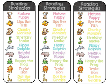 Chalkboard & Brights Reading Strategy Posters {Less Ink Version}