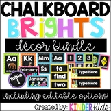 Chalkboard Brights Room Decor *EDITABLE
