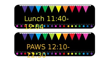 Chalkboard Brights Schedule Cards (Editable)