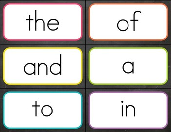 Chalkboard & Brights Sight Word Cards {Fry Edition - 1st 300 Words}
