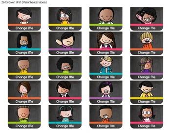 Chalkboard & Brights Teacher Toolbox Labels {Editable Text}
