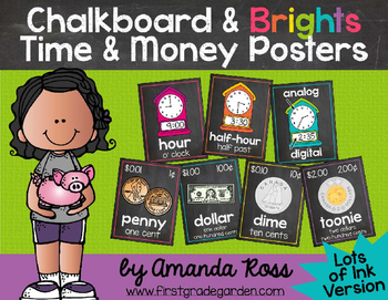 Chalkboard & Brights Time & Money Posters {Lots of Ink Version}
