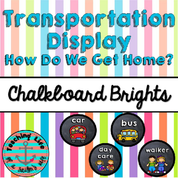 Chalkboard Brights Transportation Display
