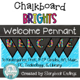 #summer2018 Chalkboard Brights: Welcome Pennant