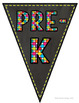 Chalkboard Brights: Welcome Pennant