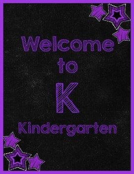 Chalkboard & Brights Welcome to ___ Grade Poster (Purple)