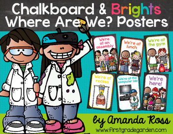 Chalkboard & Brights Where Are We? {Hanging Mini-Posters}
