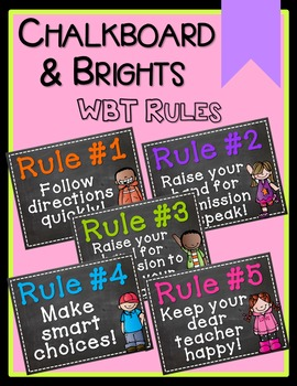 Chalkboard & Brights Whole Brain Teaching Rules