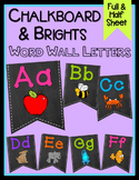 Chalkboard & Brights Word Wall Letters
