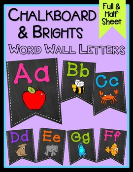 Chalkboard & Brights Word Wall Letters