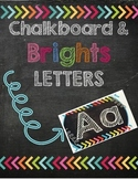 Chalkboard & Brights Word Wall Letters/Alphabet