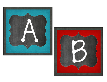 Chalkboard & Brights Word Wall Set