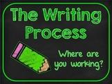 Chalkboard & Brights Writing Clip Chart