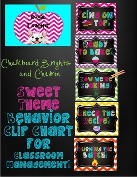 Chalkboard Brights,Sweet Theme,Behavior Management Clip Chart,Candy Shop,Chevron