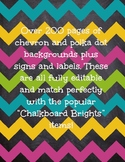 Chalkboard Brites Backgrounds & Signs