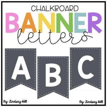 Chalkboard Bulletin Board Banner Letters